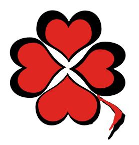 Logo trébol rojo